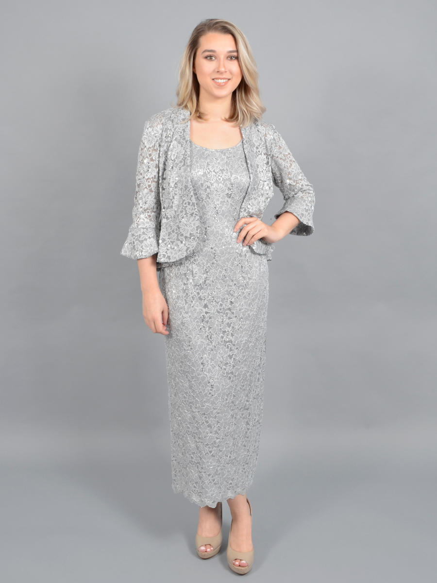R & M Richards - Sequin Lace Two Piece Jacket Gown