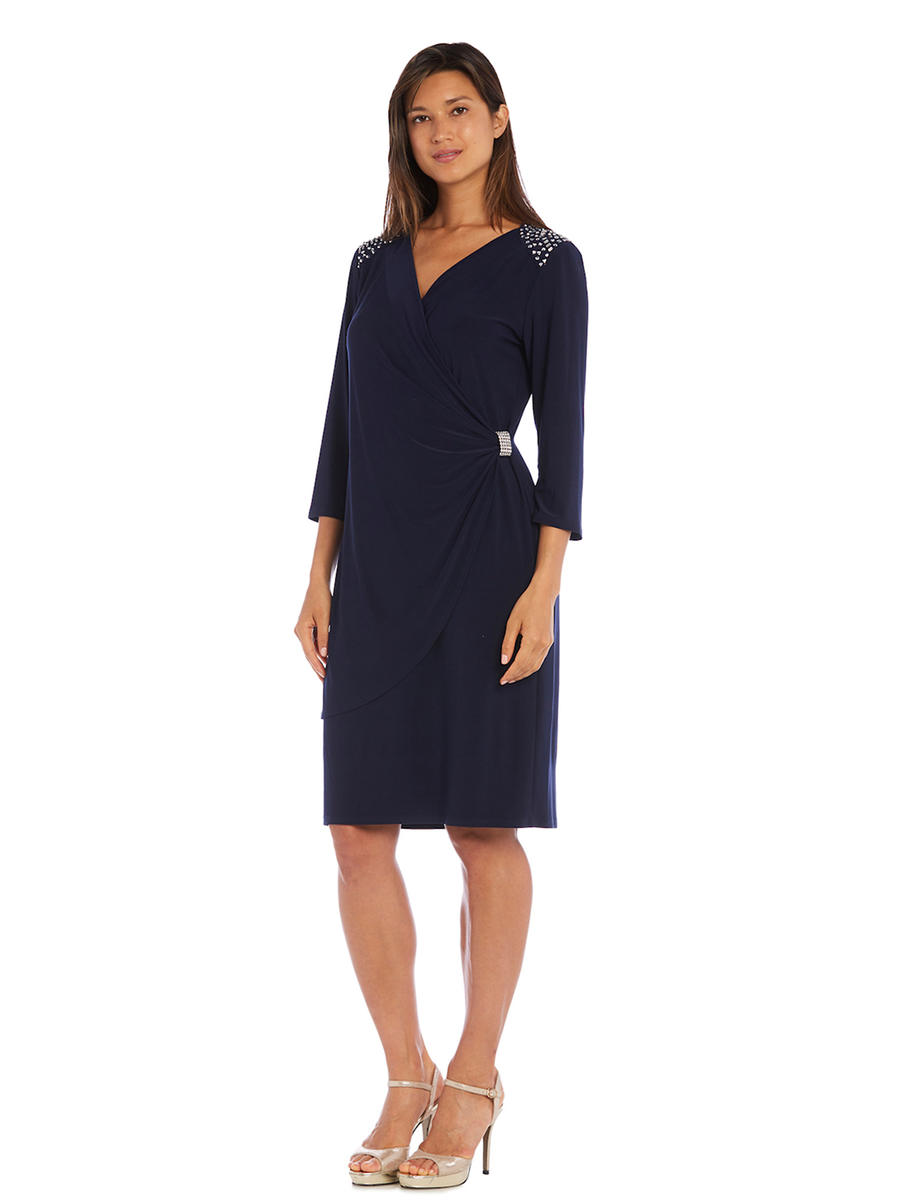 R & M Richards - Long Sleeve Jersey Dress