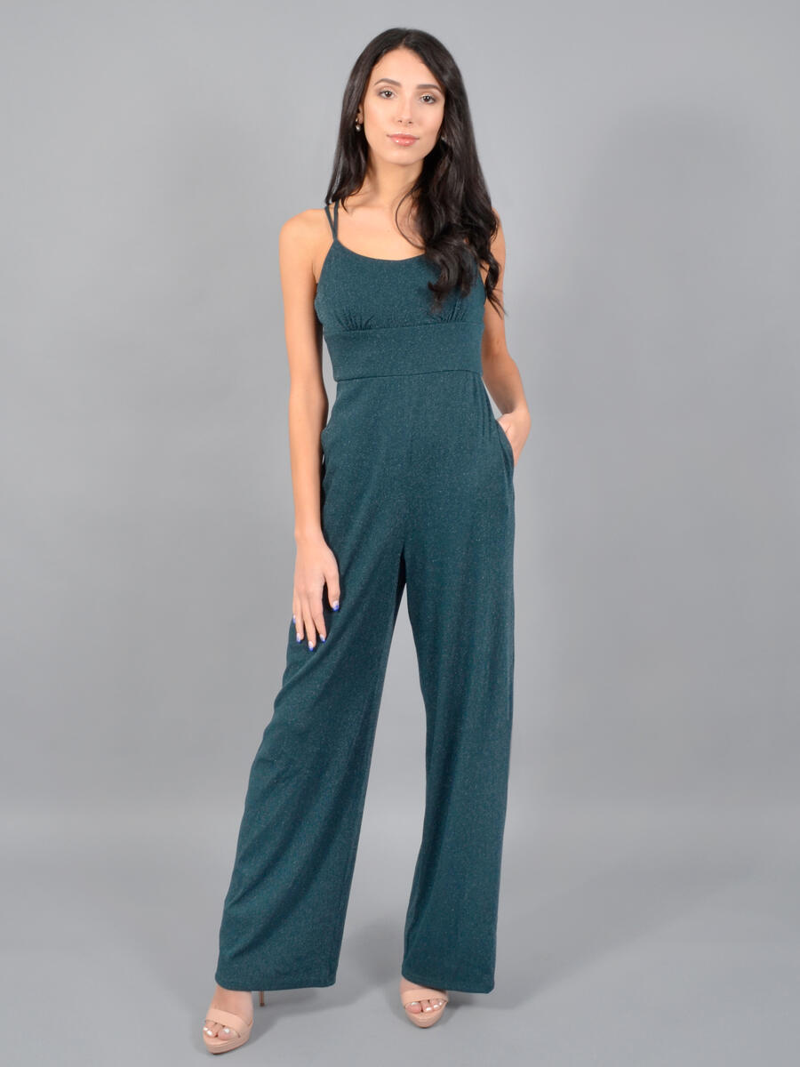 SEQUIN HEARTS - Metallic Jumpsuit-XX Back