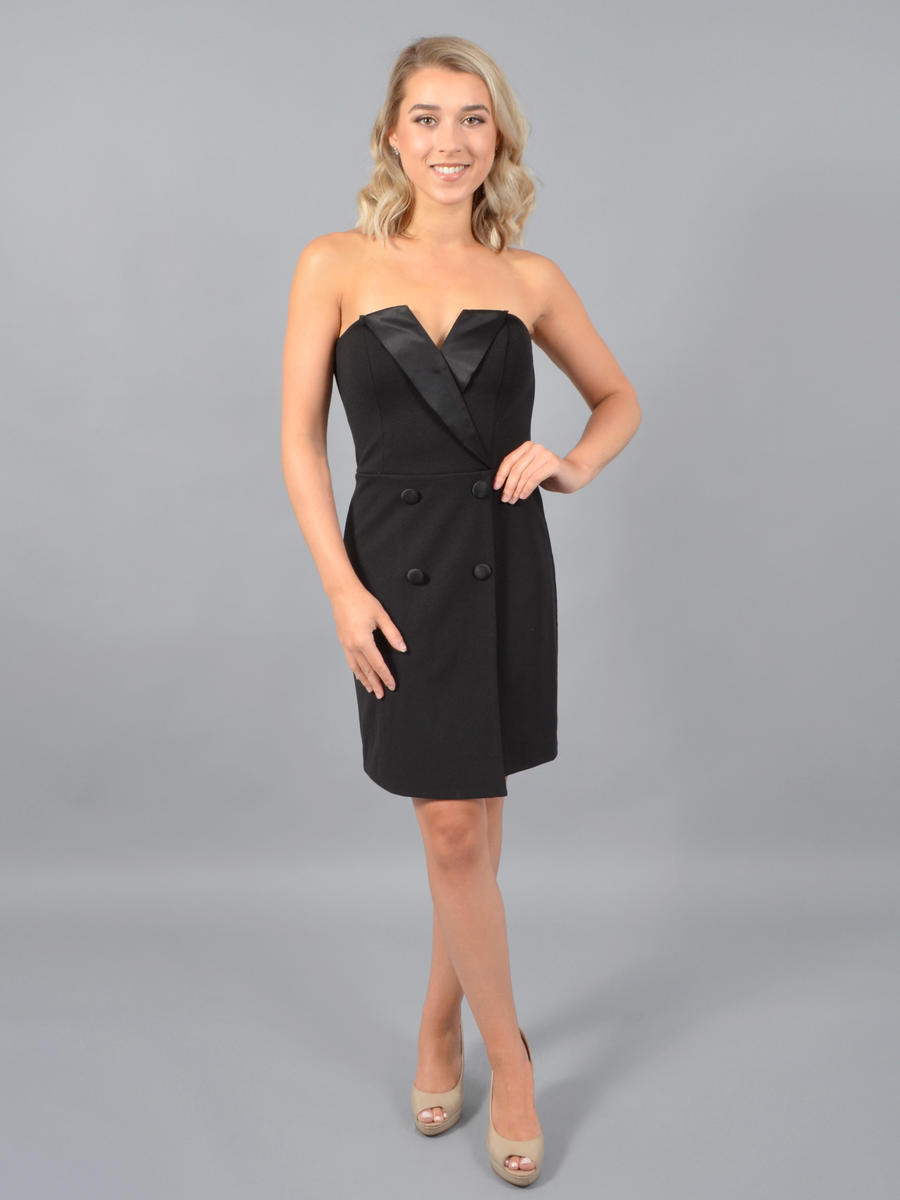 CITY TRIANGLES - Strapless Tuxedo Dress