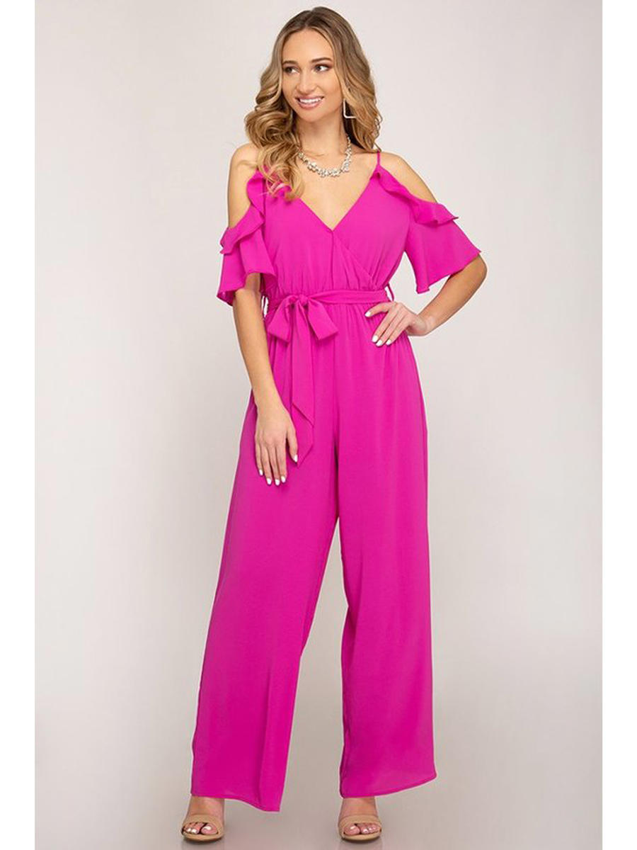 SHE AND SKY - Off Shoulder Jumpsuit