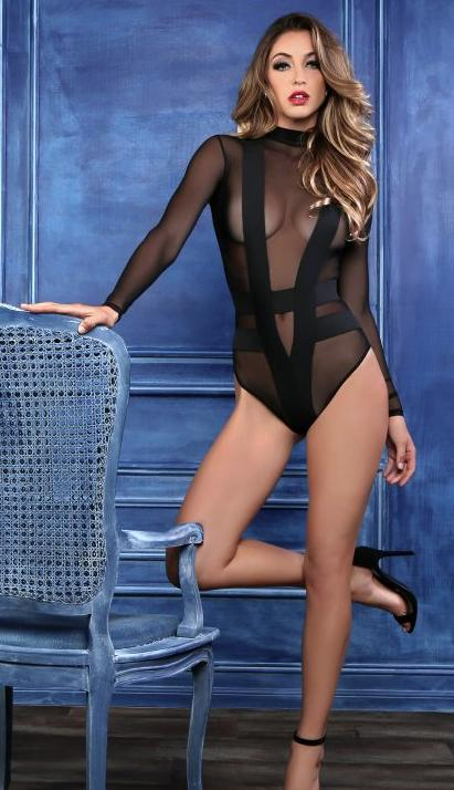 Allure Lingerie - Sheer And Cheeky body