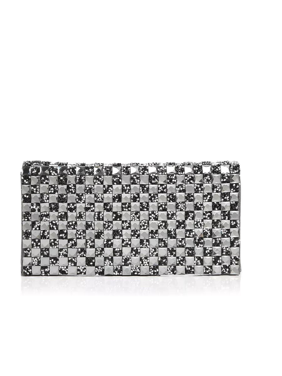 SONDRA ROBERTS/BECARRO INTCORP - Facetted Stone Flap Evening Bag