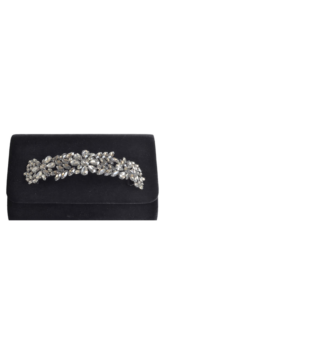 Jeweled Bar Clutch  Crushed Velvet