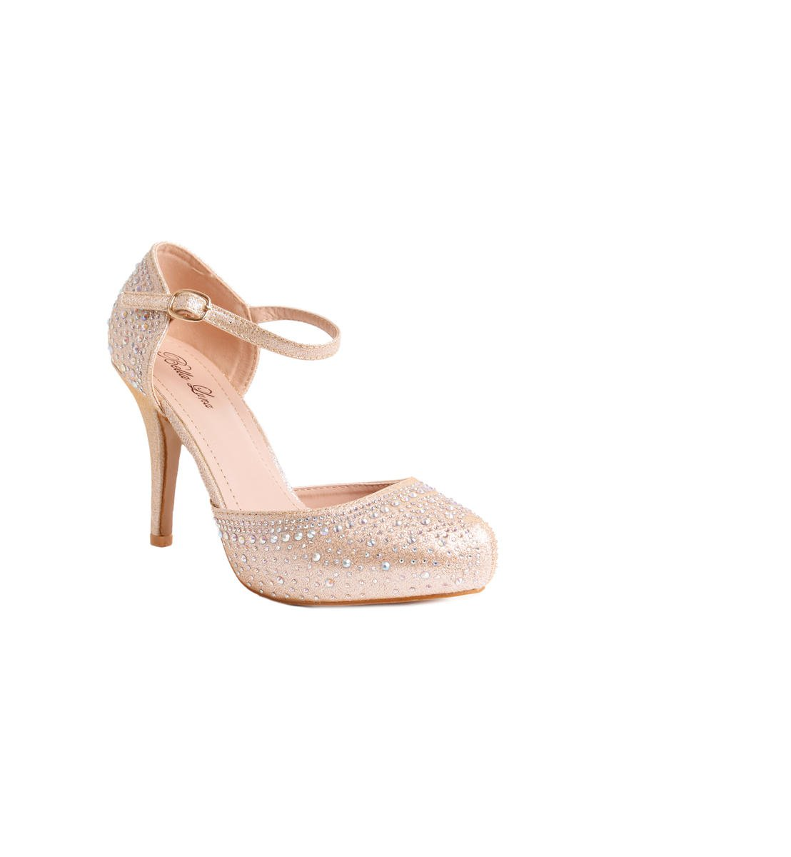 Embellished Platform Closed Toe Heel