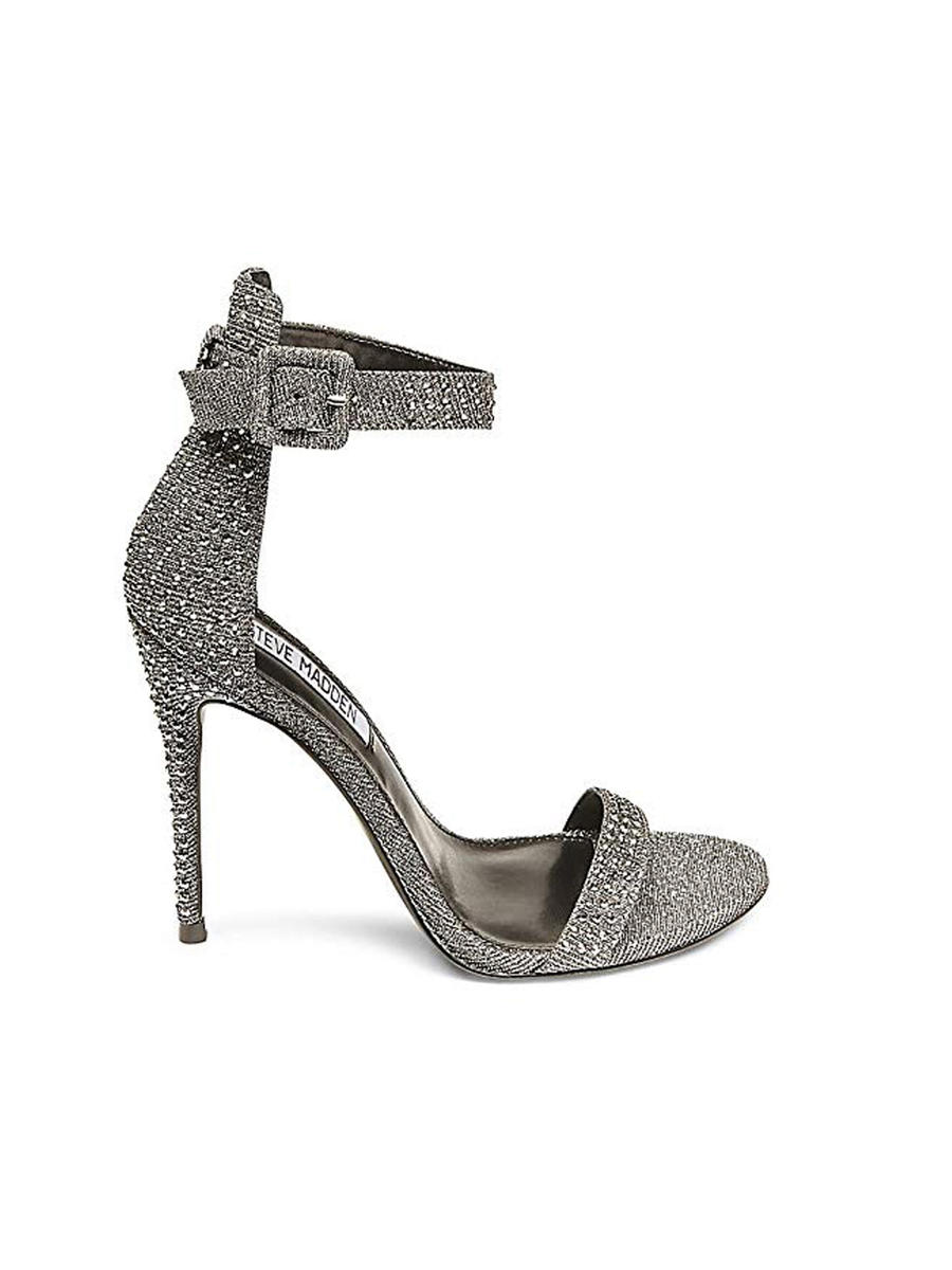 STEVE MADDEN          14TH  FLOORS nyc - High Heel Glitter Rhinestone Ankle Stra