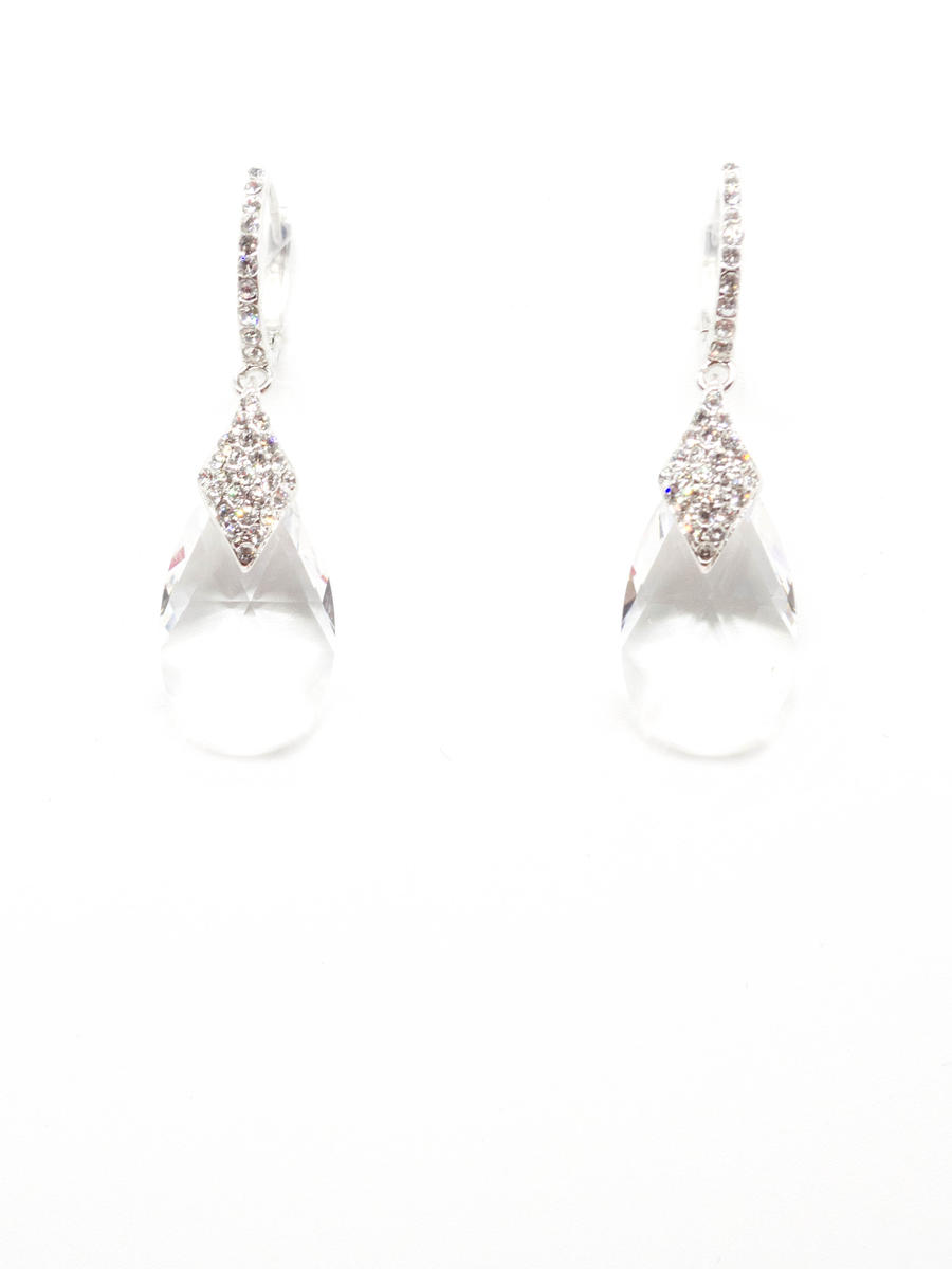STYLE BY SOPHIE INC. - Cubic Zirconia Crystal Drop Earrings