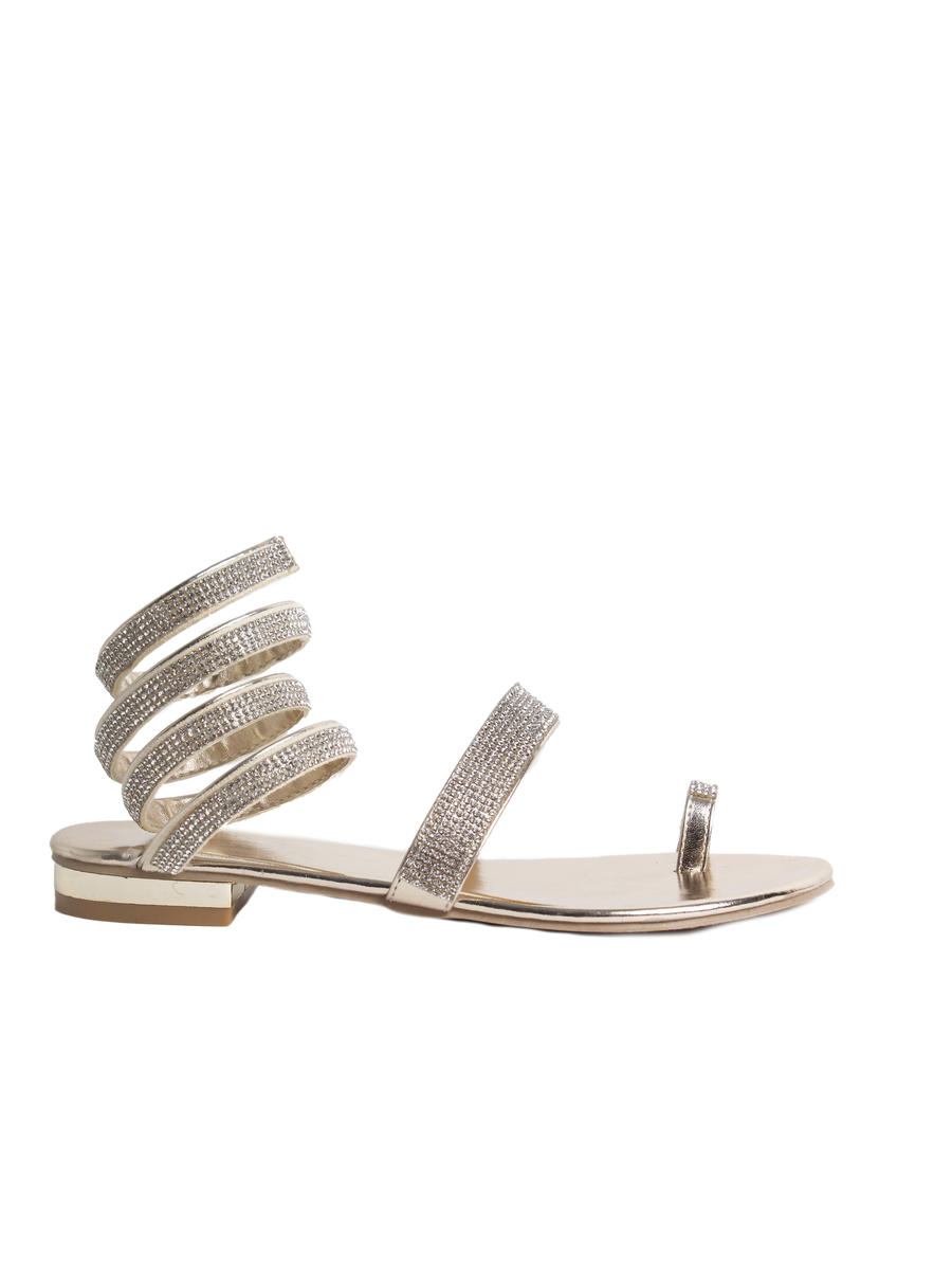 SUMMER RIO          Nancy - Spiral Flat Toe Thong Sandal