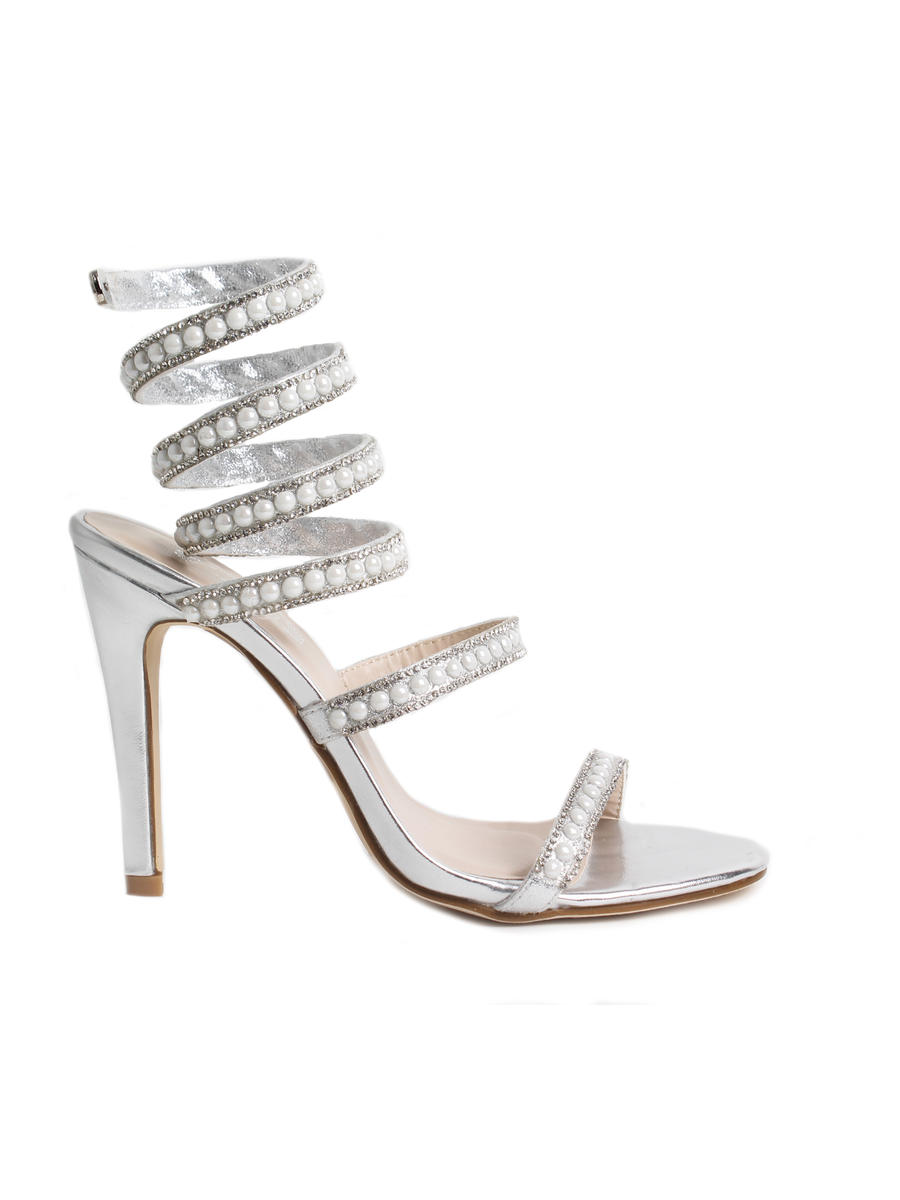 SUMMER RIO          Nancy - High Heel Spiral Rhinestone Pearl Shoe