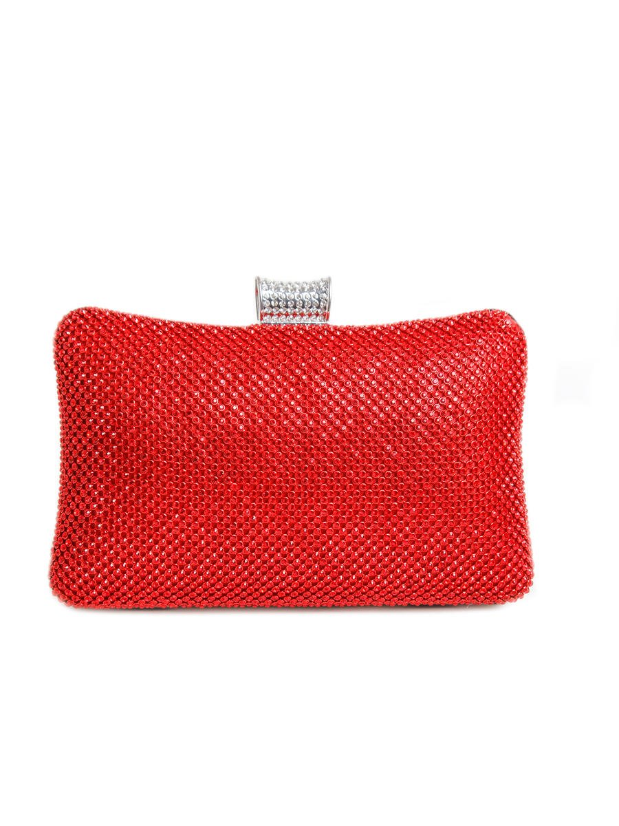 SUSAN SCHERTZ - Hard Frame Clutch With Rhinestone