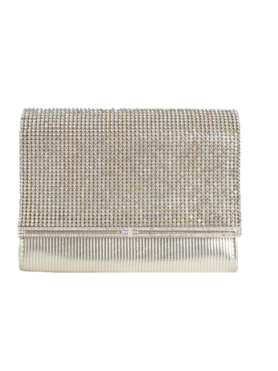 SUSAN SCHERTZ - Leather Rhinestone Clutch
