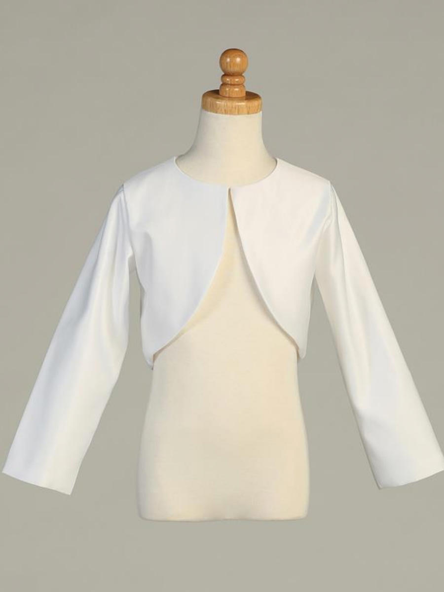 SWEA PEA AND LILLI - Long Sleeve Satin Bolero Jacket