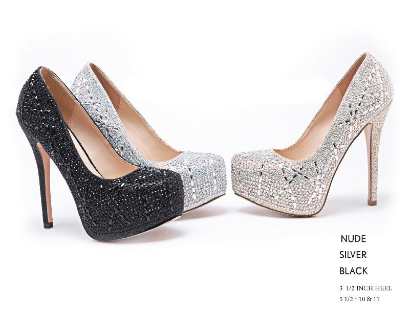SWEETIES SHOE COLLECTION - Embellished Platform Stiletto