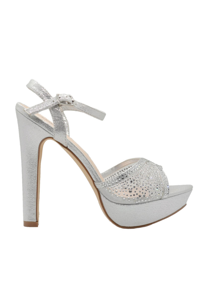 SWEETIES SHOE COLLECTION - High Heel Platform Mesh Rhinestone