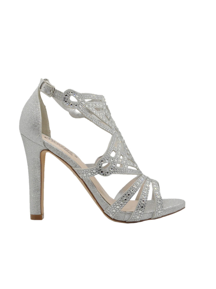 SWEETIES SHOE COLLECTION - Gladiator High Heel All Stones