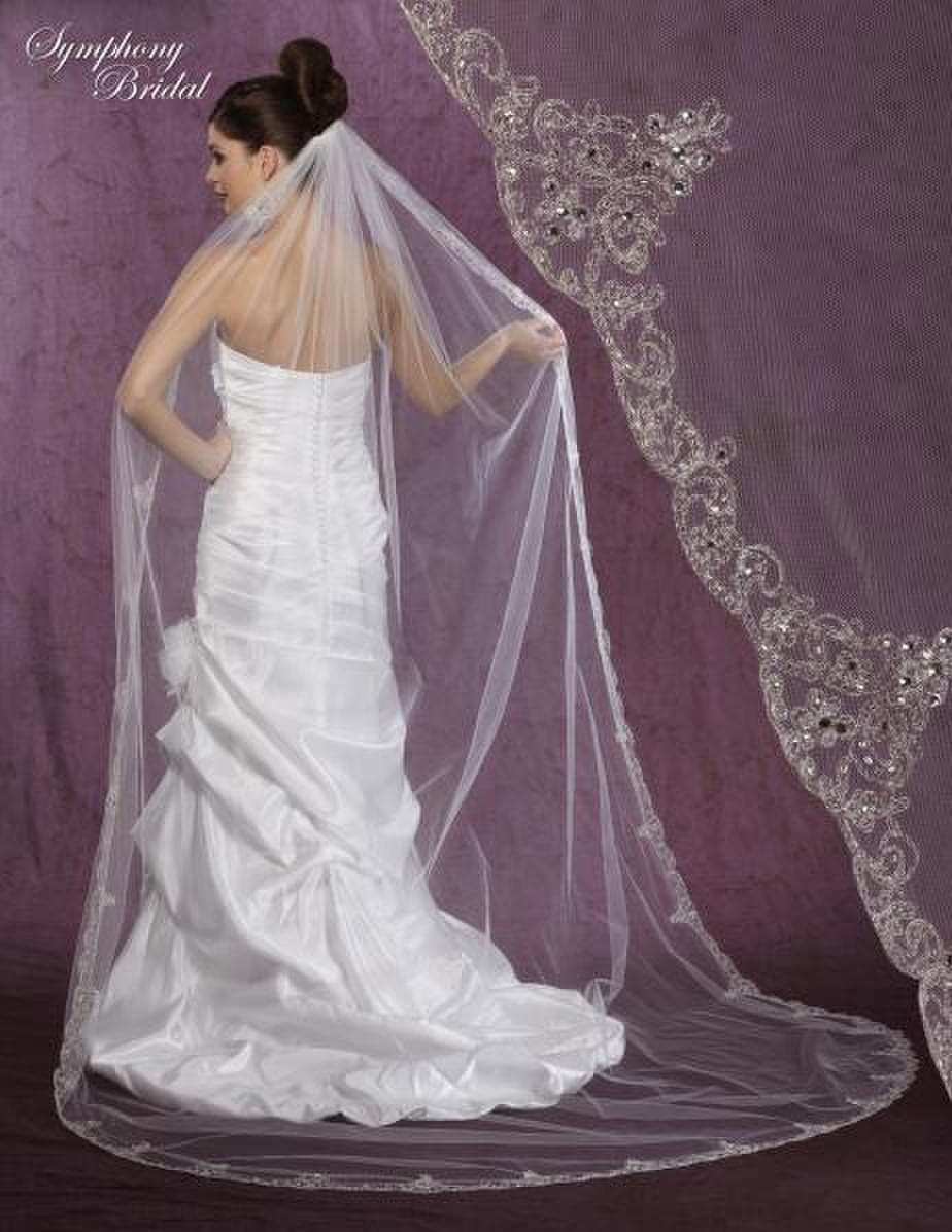 Symphony Bridal - 1TIER CATHEDRAL VEIL