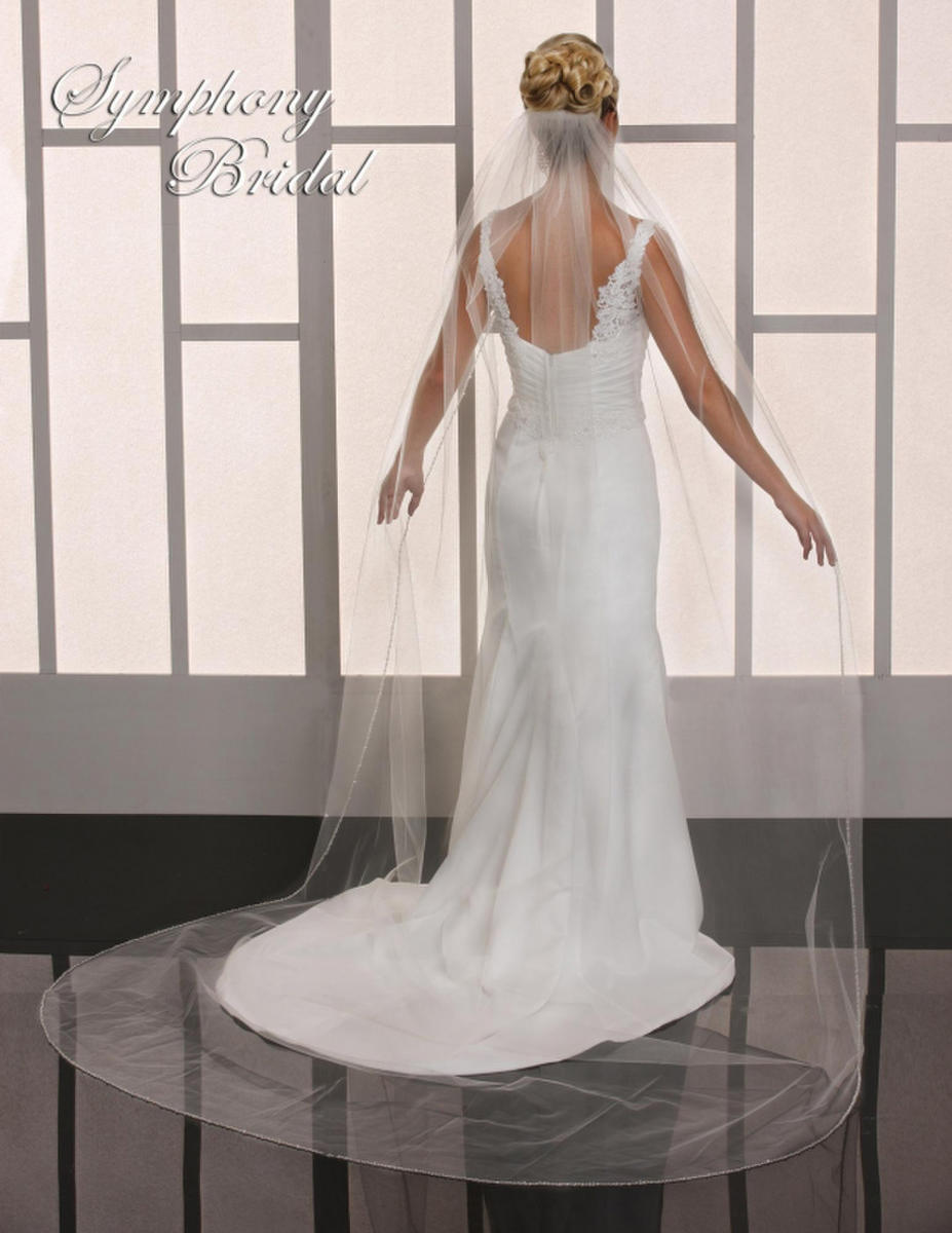 Symphony Bridal - 1 TIER CATHEDRAL BEADED