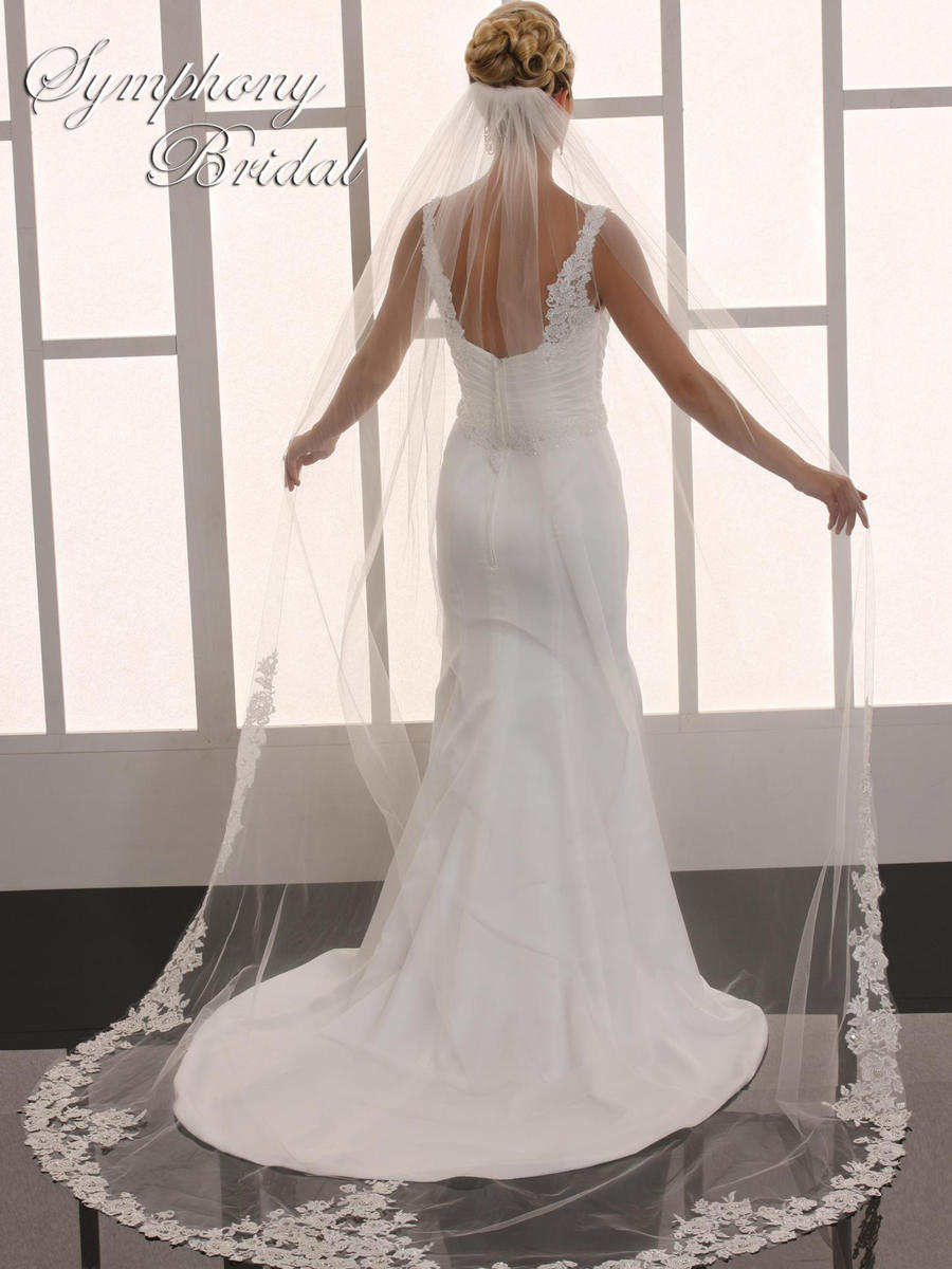 Symphony Bridal - 1 TIER CATHEDRAL ROLL EDGE