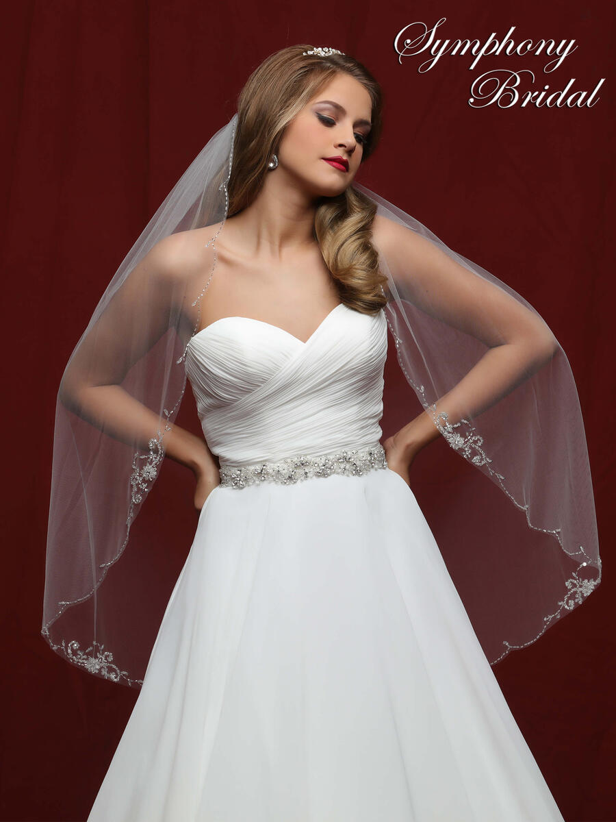Mystic31,Inc - 1 tier veil w/ scallop edge