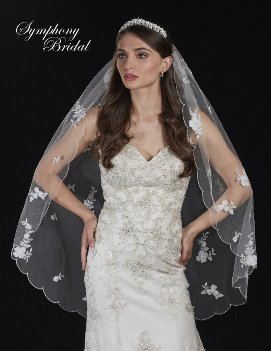 Symphony Bridal - 1 Tier Veil on Comb