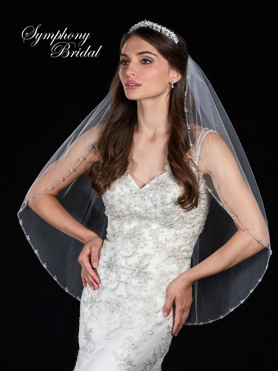 Mystic31,Inc - 1 tier veil w/ pearl edge