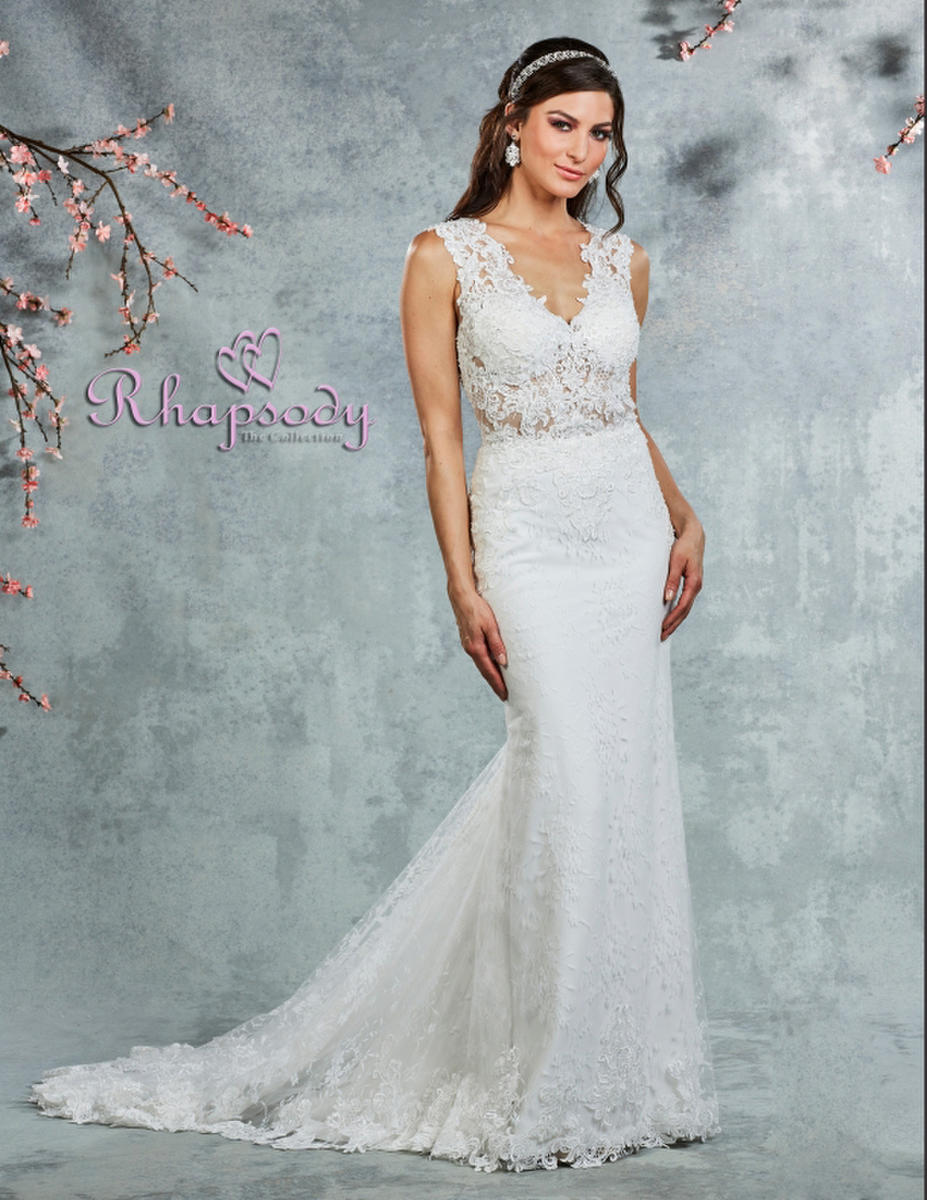 Symphony Bridal - Bridal Gown Lace and Tulle  V-Neck