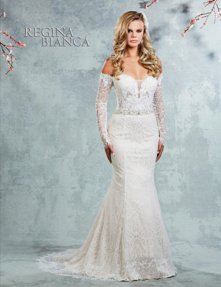 Symphony Bridal - Long Sleeve Chantilly Lace