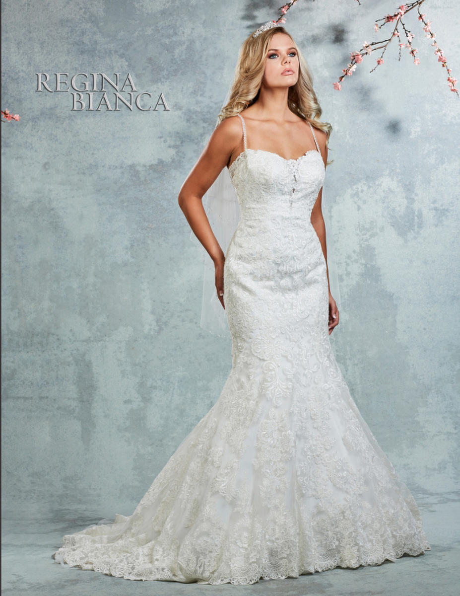 Symphony Bridal - Strapless Lace & Satin Bridal Gown