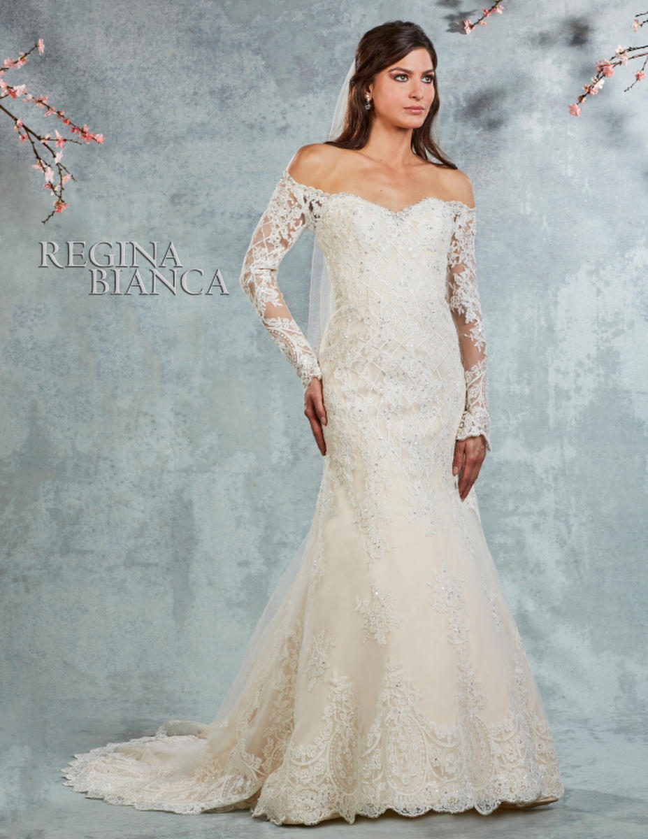 Symphony Bridal - LONG SLEEVE LACE BRIDAL GOWN