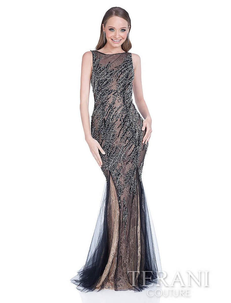 Terani - Beaded Illusion gown