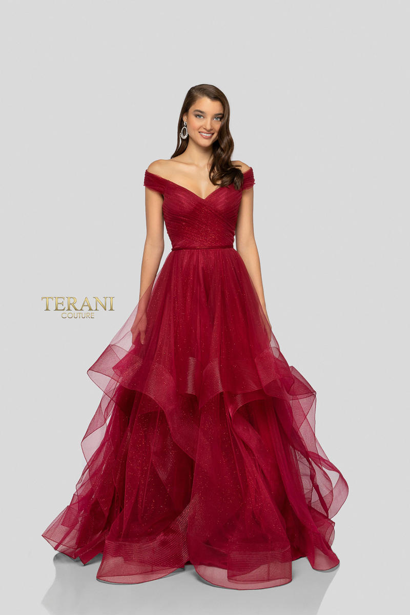Terani - Tulle Metallic Ball Gown