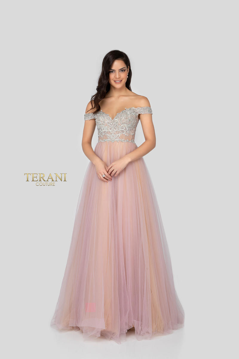 Terani - Tulle Gown Beaded Bodice