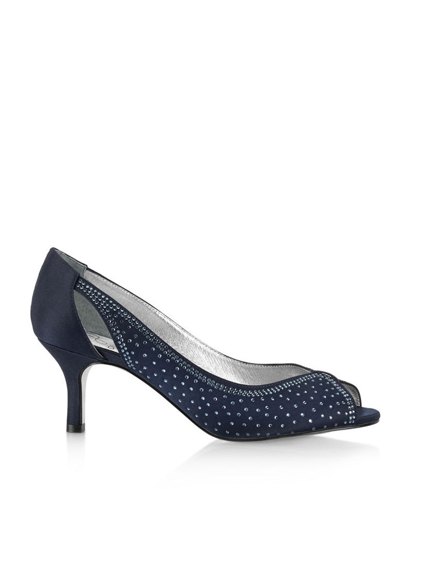 THE SILVERSTEIN - Low Peep Toe Rhinestone Pump