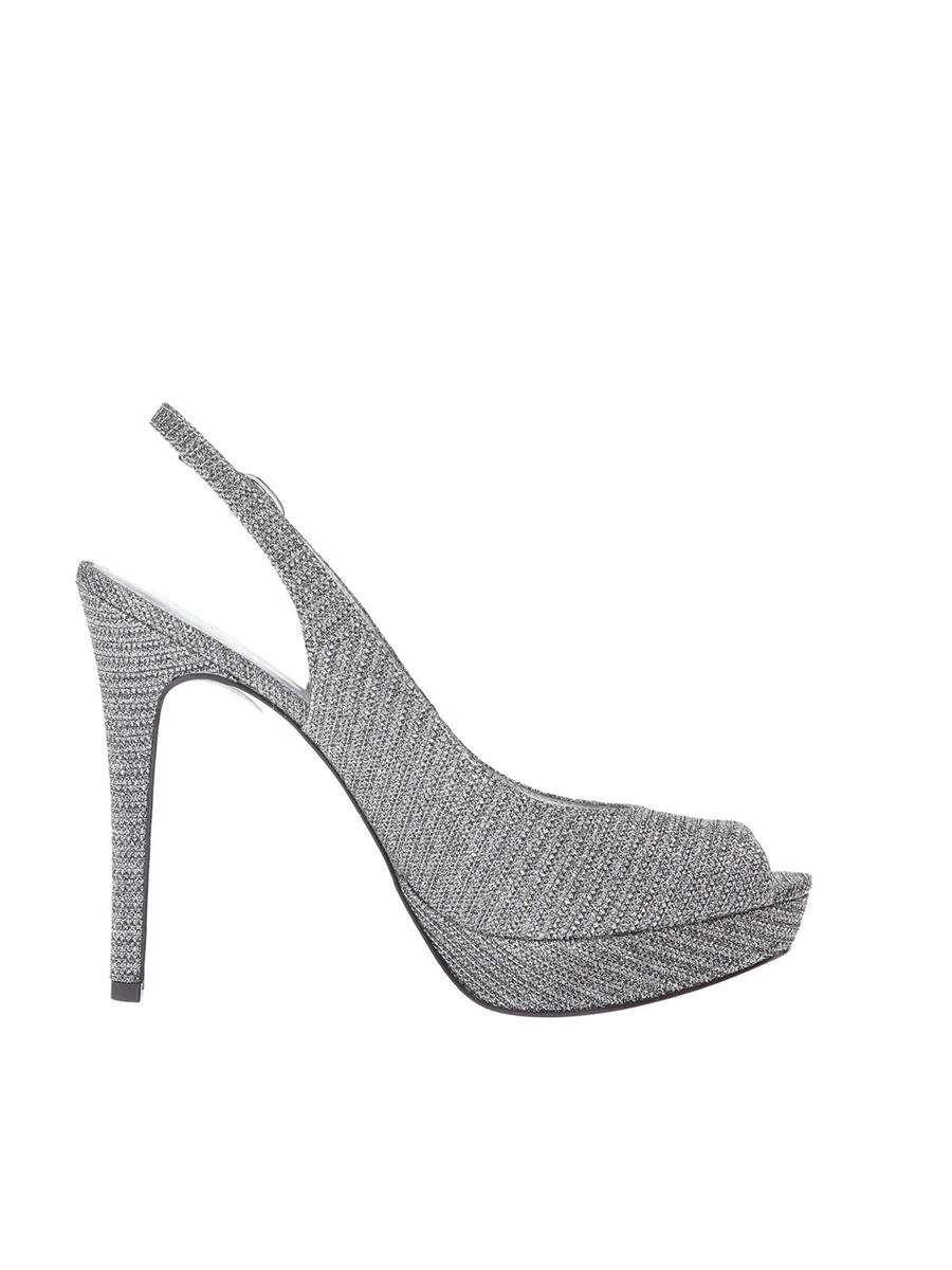 THE SILVERSTEIN  CO.  / ADRIANA PAPELL - Metallic Glitter Peep-Toe Slingback