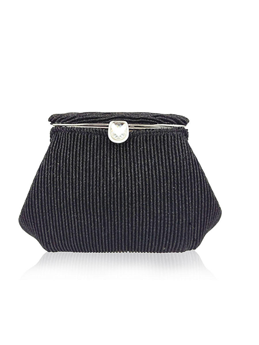 THE SILVERSTEIN  CO.  / ADRIANA PAPELL - Glitter Mesh Snap Lock Clutch