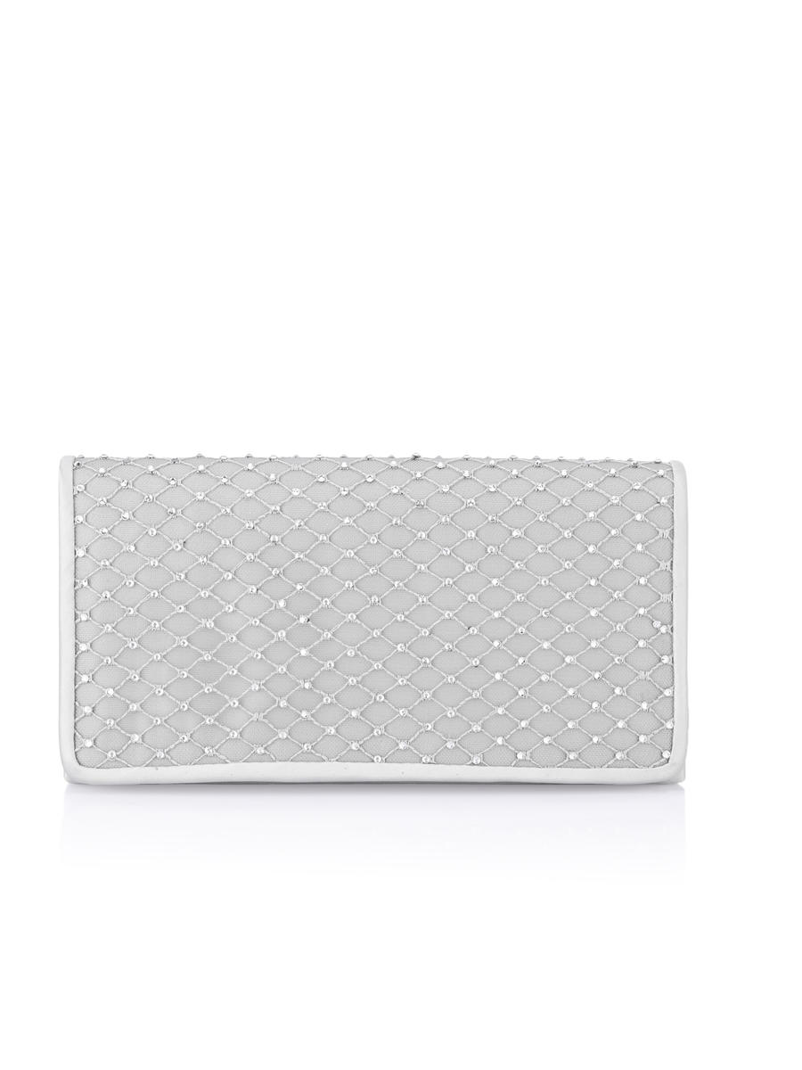THE SILVERSTEIN  CO.  / ADRIANA PAPELL - Rhinestone Mesh Clutch