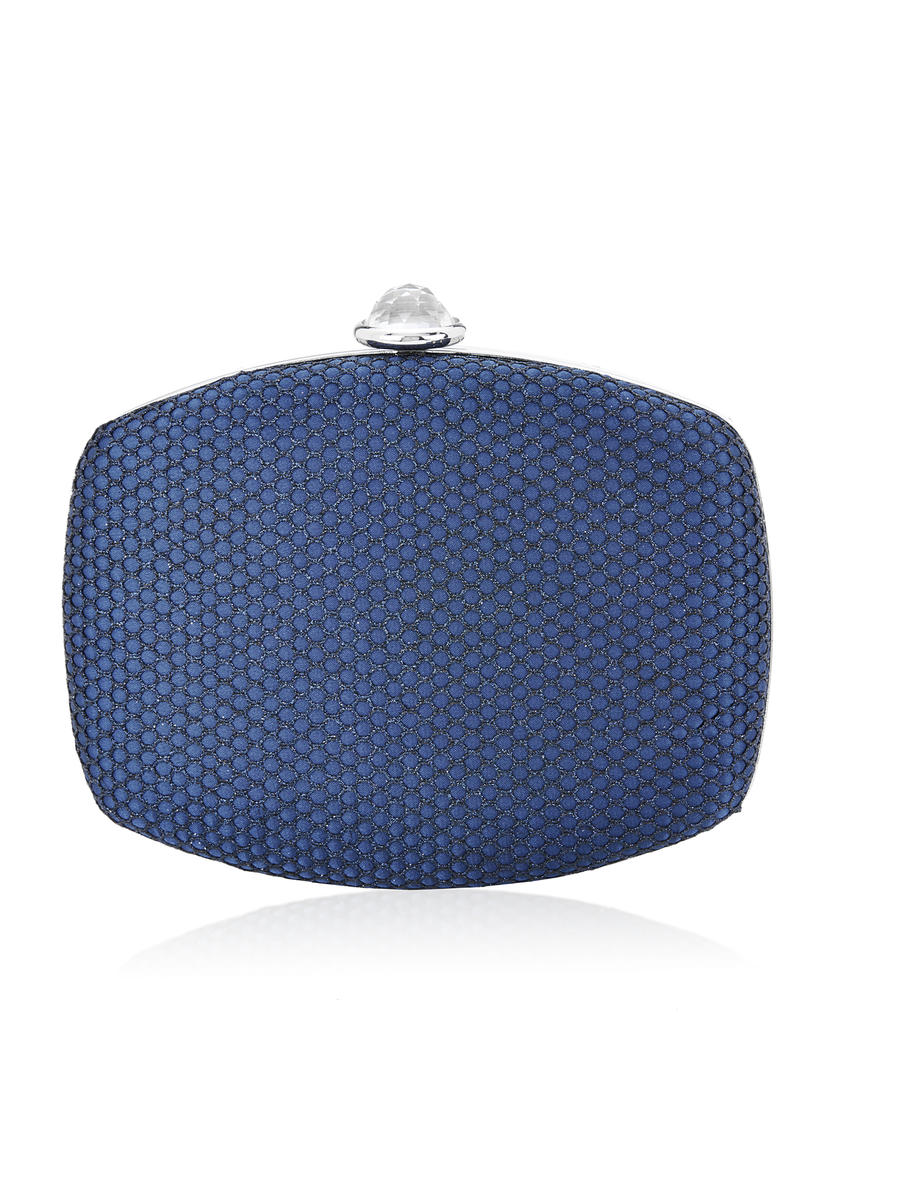 THE SILVERSTEIN  CO.  / ADRIANA PAPELL - Oval Mesh Hard Frame Clutch