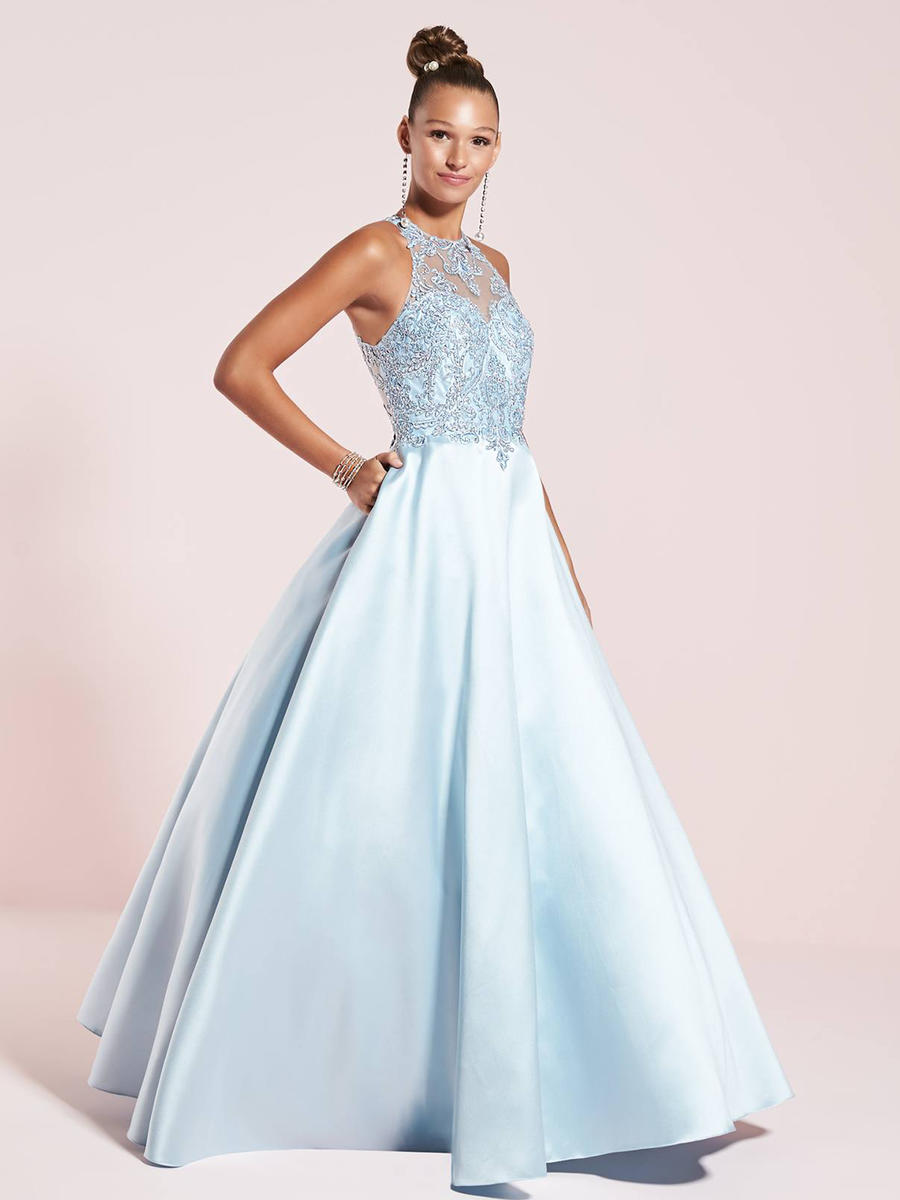 TIFFANY DESIGNS(HOUSE OF WU) - Satin Embroidered Gown