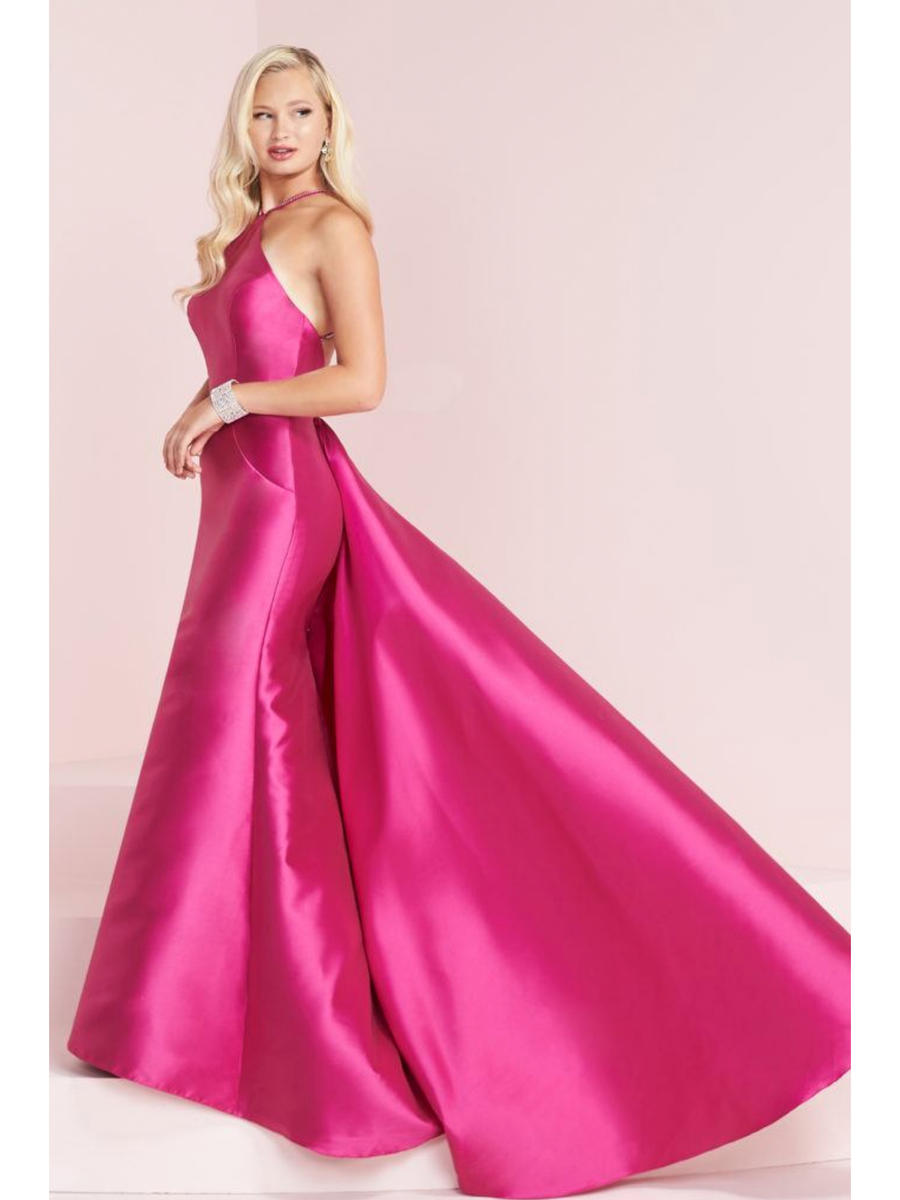 TIFFANY DESIGNS(HOUSE OF WU) - Satin Halter Neck Gown