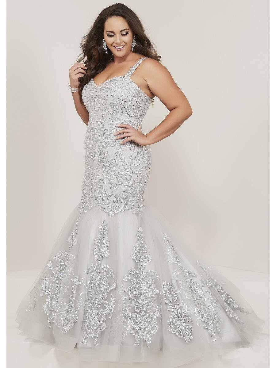 TIFFANY DESIGNS(HOUSE OF WU) - Sequin Lace Tulle Beaded Gown