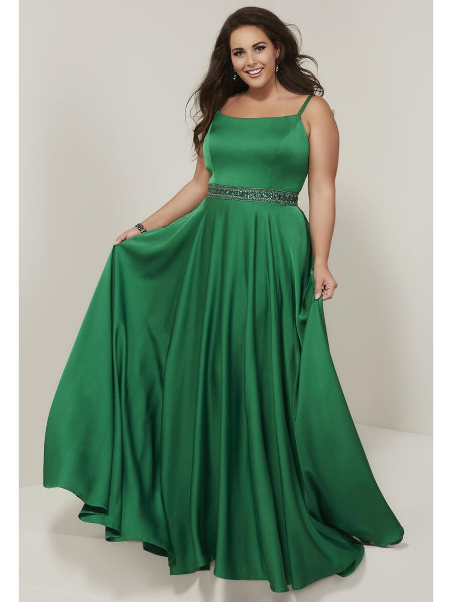 TIFFANY DESIGNS(HOUSE OF WU) - Satin Gown Beaded Waistline