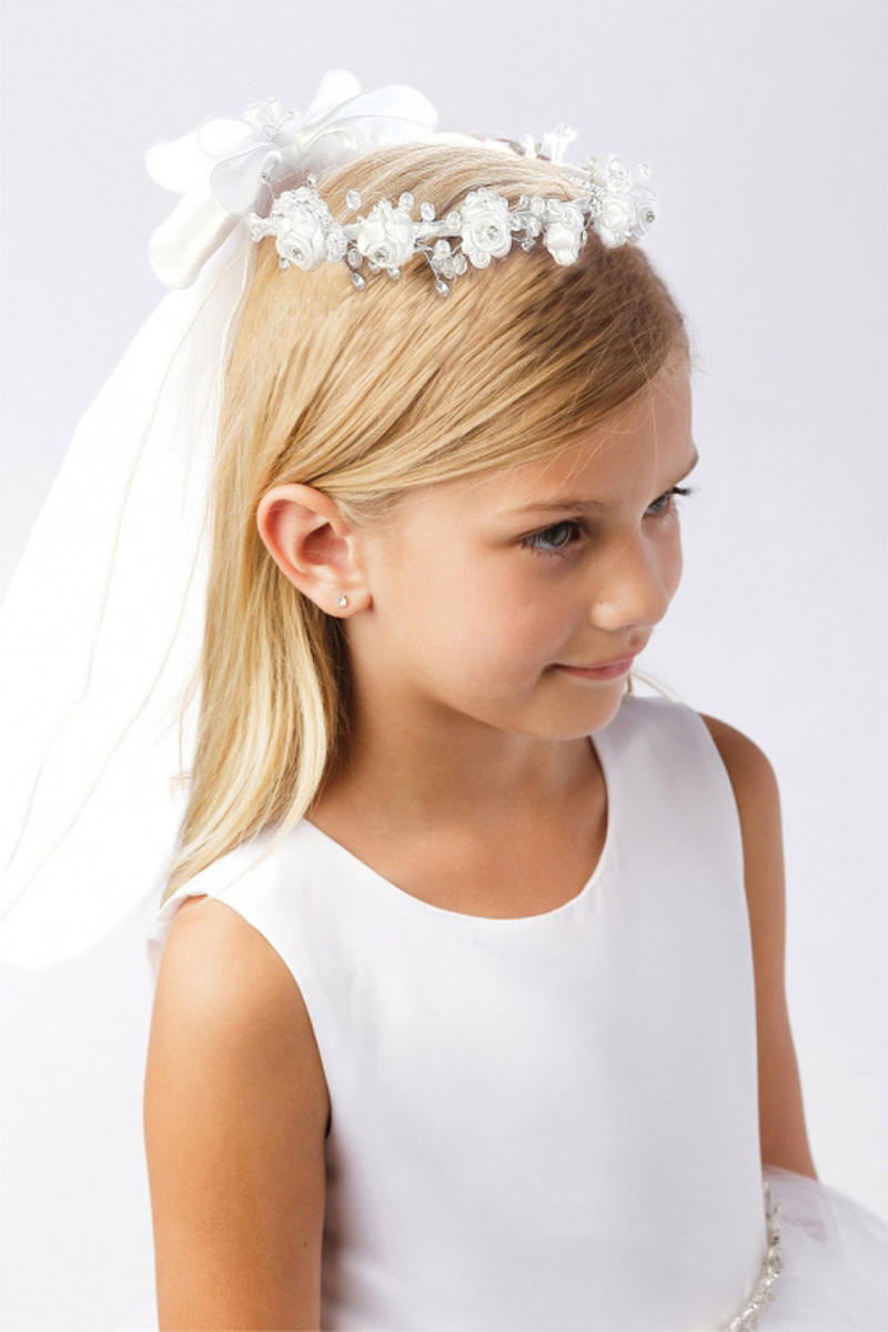 TIP TOP childrens - Flower Crown with Veil 777