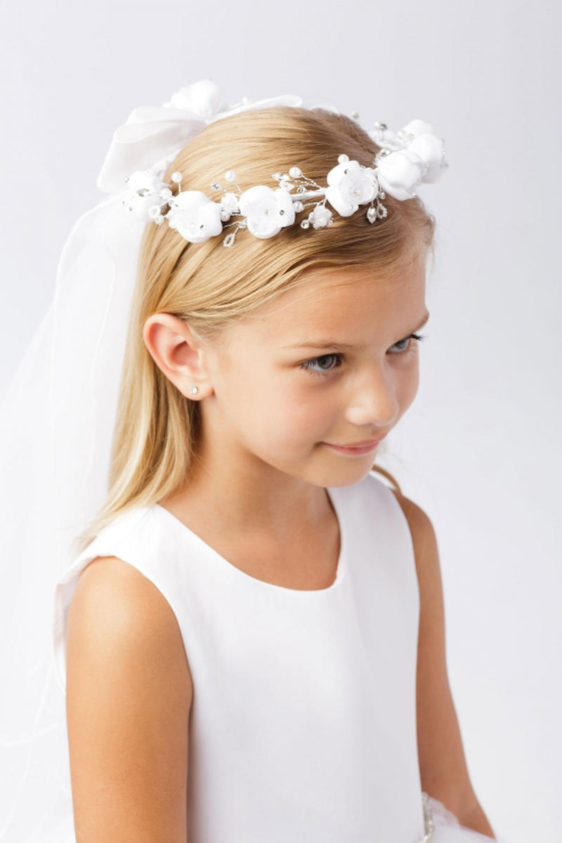 TIP TOP childrens - Flower Crown with Veil