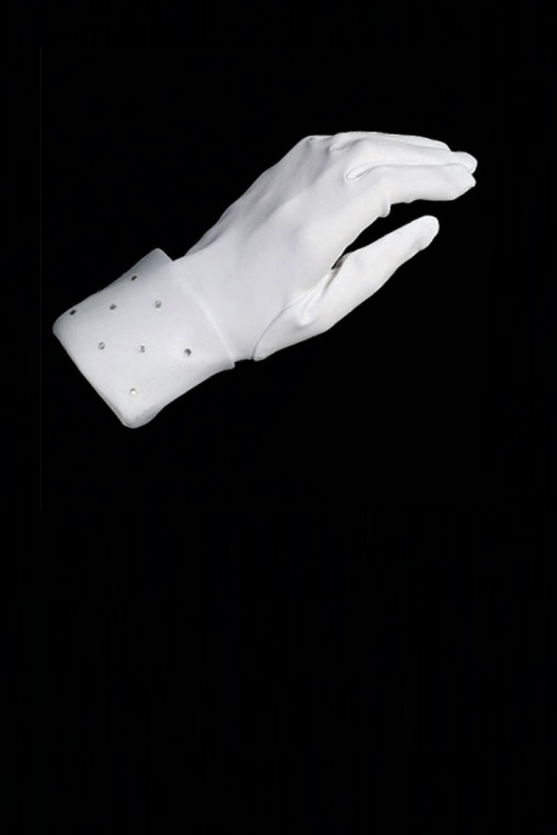 TIP TOP childrens - Rhinestone Organza Cuffed Gloves