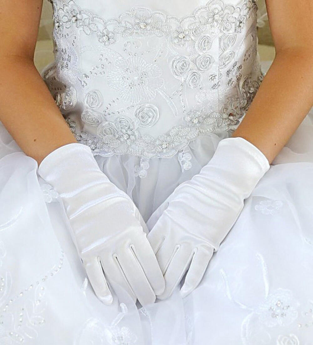 TIP TOP childrens - Short Satin Gloves