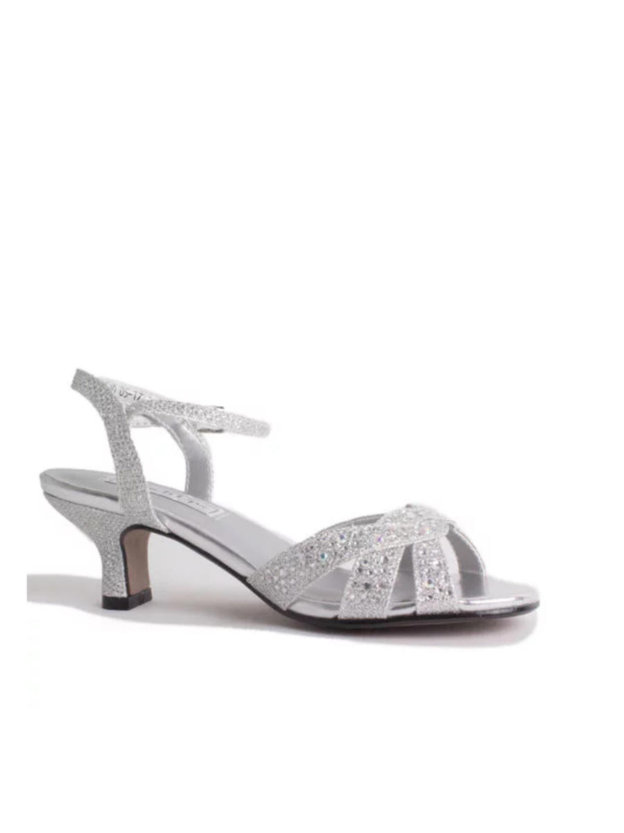 7052aaca7e9 Touch Ups and Dyables - Low Heel Glitter Ankle Strap