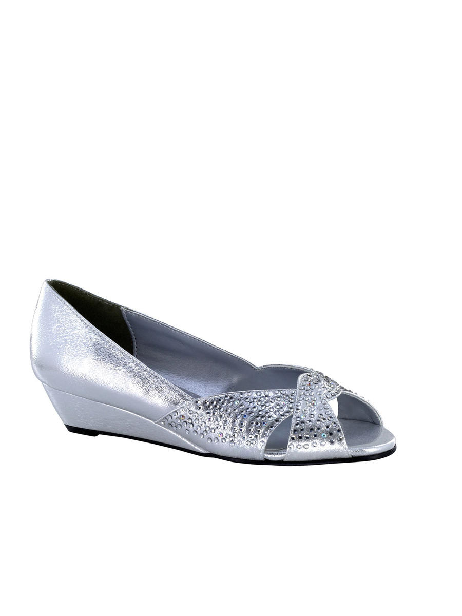 Touch Ups and Dyables - Rhinestone Low Metallic Wedge