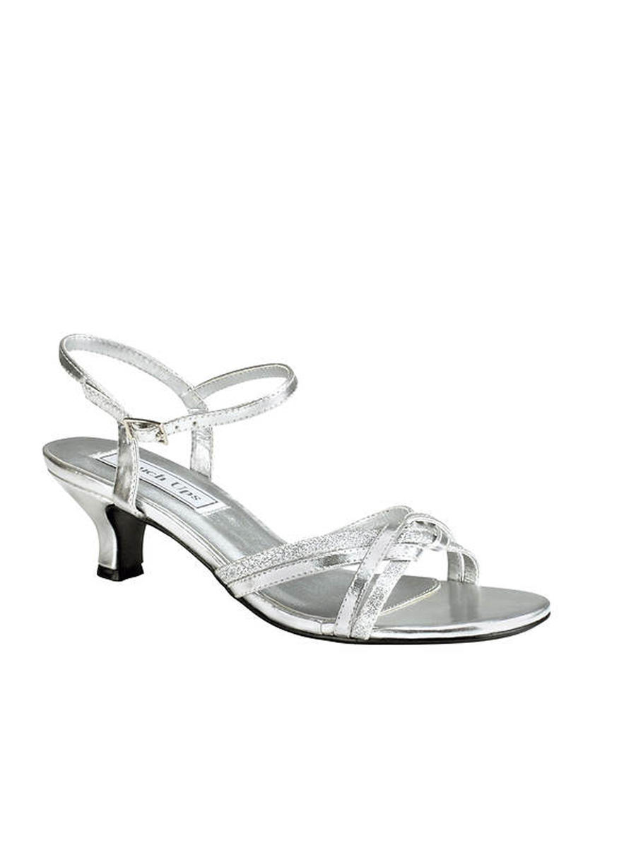 Touch Ups and Dyables - Metallic Low-Heel Open Toe Sandal