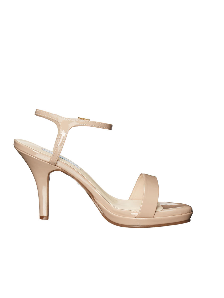 Touch Ups and Dyables - Mid Heel Thin Platform Ankle Strap Sandal