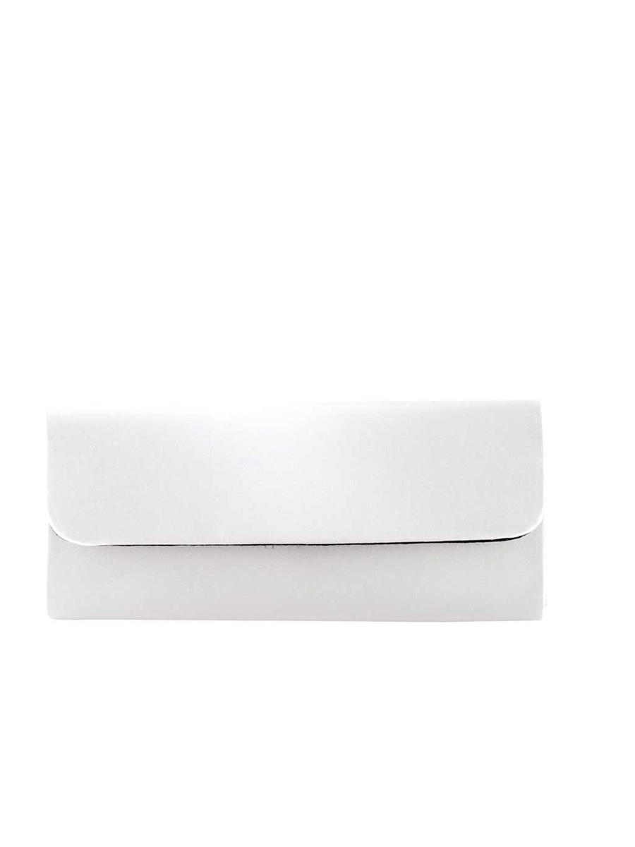 Touch Ups and Dyables - White Satin Clutch
